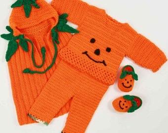 PA917 Precious Pumpkin Romper Set Pattern PDF