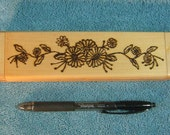Daisy Flowers Wood Burned Necklace Box