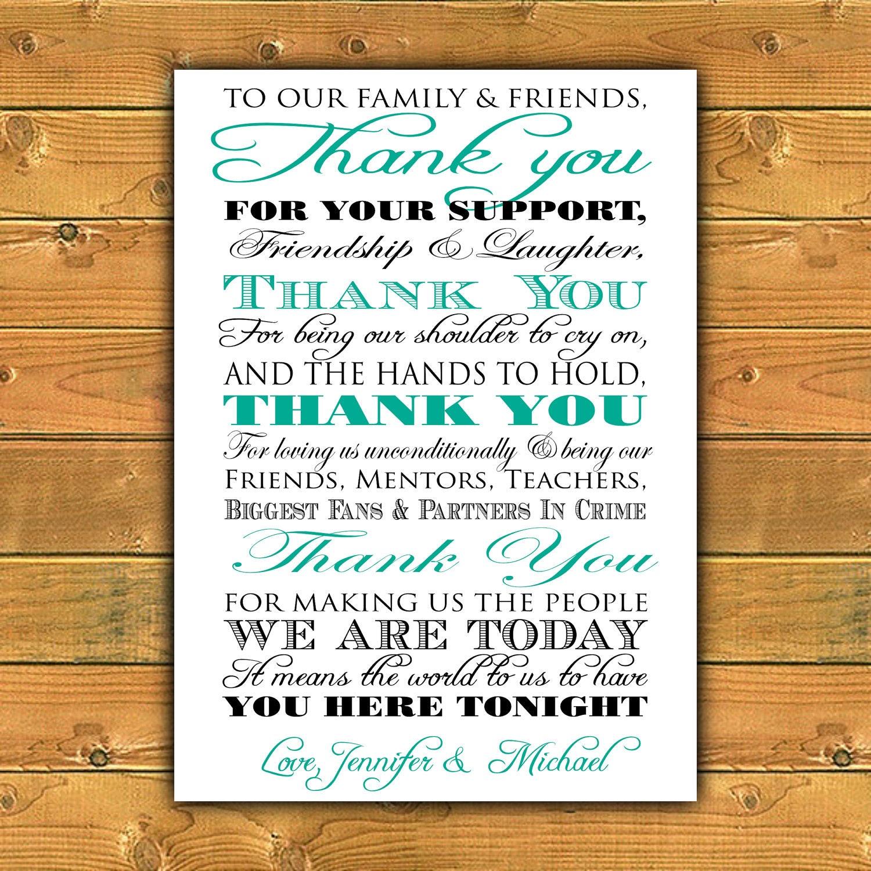 Printable thank you wedding sign for Wedding signs printable