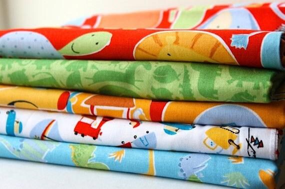 Half Yard Bundle Oh Boy by David Walker Fabric Set