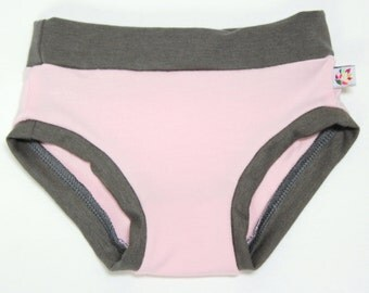 Pink & Slate Bamboo Girls Underwear