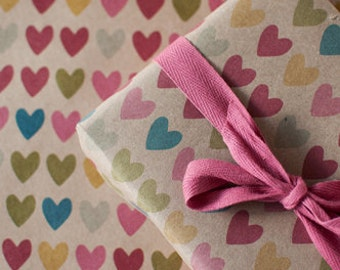 Full of Hearts | Wrapping Paper | Gift Wrap | 3 Sheets | Toodles Noodles
