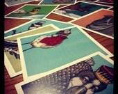 Set of 5 Small Animal Prints 4.5x4.5- Buy 4 get 1 free
