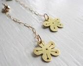 SALE Sakura Flower Cherry Blossom Long Chain Earrings