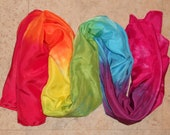 Big Rainbow Play Silk, 44x72 inches, Waldorf, scarf, sarong, veil