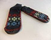 Vintage 1950s Slippers Socks // New in Package Men's Argyle Houseslippers Size M (9.5 - 11)