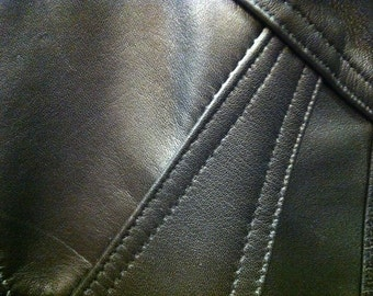 A lovely lambskin BLACK  leather jacket - black tones - sizes Small, Medium, Large, XL and Xxl tailor made