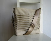 Natural Bright Color Canvas Pleated Bag