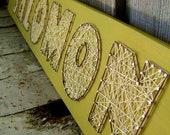 7 Letter Modern String Art Wooden Name Tablet - Made to Order