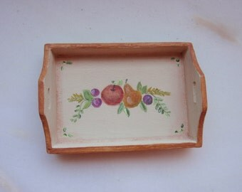 12th scale dollhouse tray - handpainted unique design