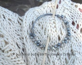 Shawl Pin, Cowl Pin, Scarf Pin, Hand wrapped wire, Beaded
