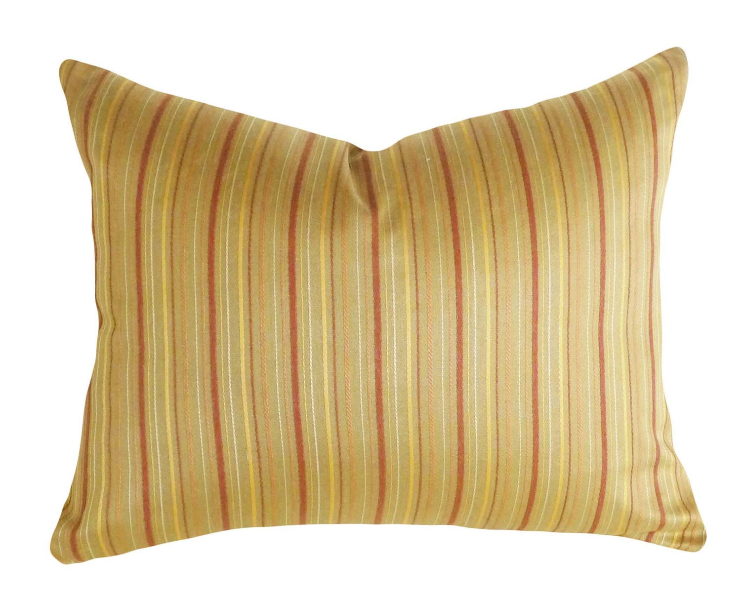 Decorative Pillows With Stripes : Colorful Stripes Pillow Textured Cushion Cover by PillowThrowDecor
