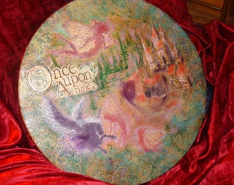 Once Upon a Time Mixed Media Irish Drum Bodhran