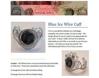 TUTORIAL, Wire Wrapped Blue Ice Cuff Bracelet, DIY, Handmade Wire Jewelry Project