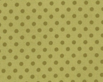 Julie Comstock of Cosmo Cricket for Moda, Odds and Ends, Polka Dots in Leaf 37048.25 - 1/2 Yard