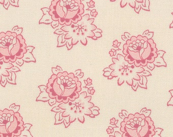Cabbages and Roses for Moda, Athill Range Pink on Ivory 35217.11 - 1 Yard