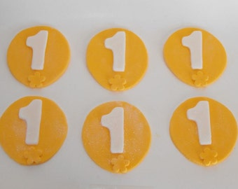 Balloon with Numbers Cupcake Toppers