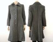 WEILL French Vintage Grey Wool Coat
