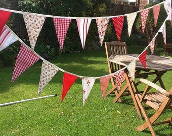 Customise your wedding bunting garland, 40ft extra long with 60 flags