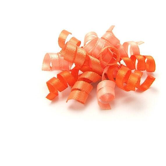 Tangerine Tango Mini Korker Bow, Satin Korker, Orange Korker, Baby, Toddler, Girl
