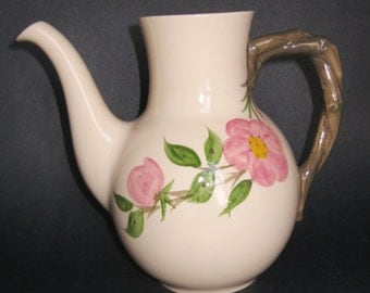 Franciscan Desert Rose Coffee Pot No Lid Made in England 7.5 inches tall