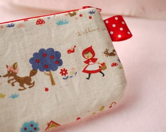 Little Red Ridding Hood mini zipper pouch