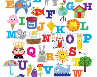 Kids Wall Art-alphabet