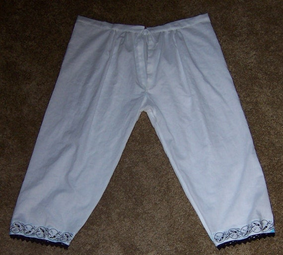 DRASTICALLY REDUCED - Blackwork Renaissance Drawers Knickers Bloomers