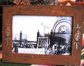 Vintage GUADALUPE  Processional Photograph Antiqued Frame - a peek into Mexican history