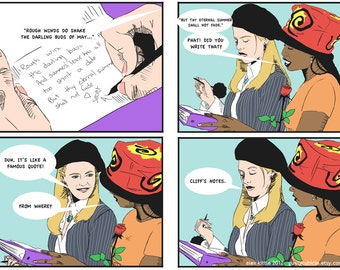 "CLUELESS ""Cliff's Notes"" Mini-Comic Print"