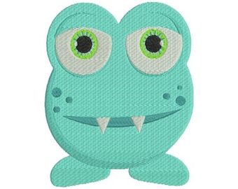 Cute Little Monster II Filled Machine Embroidery Design 4x4 and 5x7 Instant Download