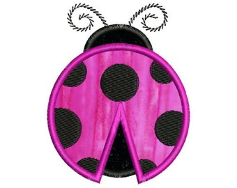 Applique Ladybug Lady Bug Machine Embroidery Designs 4x4 & 5x7 Instant Download Sale