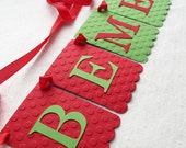 Be Merry Banner - Embossed Lrg Dots - Holiday Banner Holiday Home Decor Christmas Decor Holiday Photo Prop Be Merry Banner Christmas Banner
