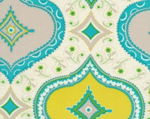 1 yard of Blue Kumari Garden Medallion by Dena Designs