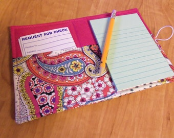 Mini List Taker, Organizer, Coupon Holder, Sloane Paisley by Alexander Henry, Notepad And Pen/Pencil Included