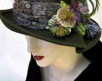 English Country Cloche/ Olive