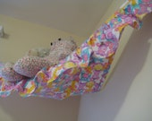 Pastel Zoo - Teddy Bed (Toy Hammock) - Size Medium with Ruffle