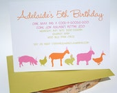 Custom Listing for Emily, Petting Zoo Party Digital Invitation File