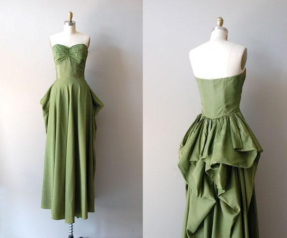 vintage 40s dress / Fred Perlberg 1940s dress / Cloverclub dress