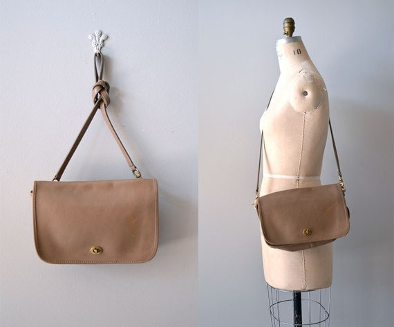 leather saddle bag / taupe leather bag / Tatney Bag