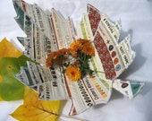Fiber Art Fabric Bowl Selvage Autumn Leaf