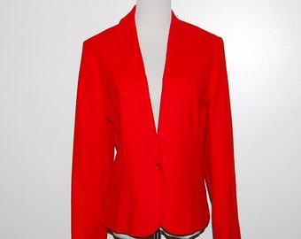 Vintage Pendleton Red Wool Blazer