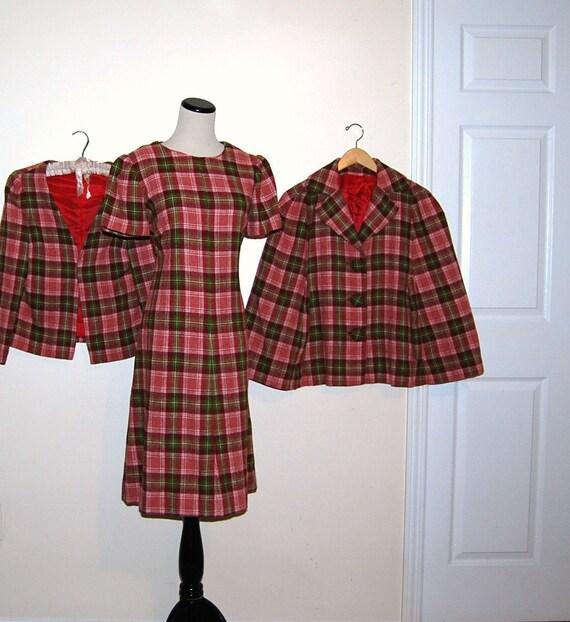 Vintage Dress Trio 60s Plaid