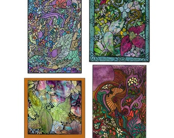 Katzinn Notecards - Abstract Collection - Acid Free - Suitable for framing