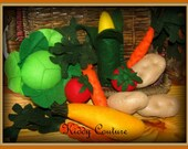 READY TO SHIP!! The Ultimate Vegetable felt play food collection