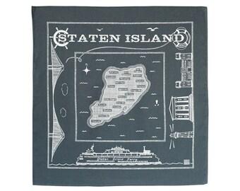 Staten Island bandanna - gray