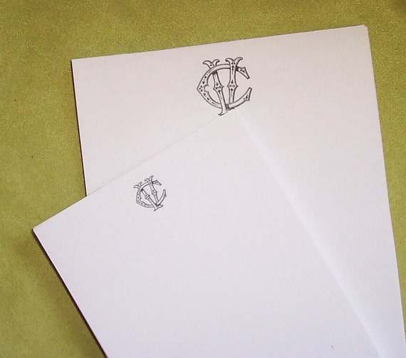 Custom Notepads Memo Pads: Personalized Notepads Vintage Inspired Stationery By