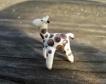 Giraffe Bead, lampwork glass giraffe bead, handmade glass giraffe bead, jungle, made to order