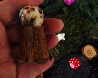 fairy garden Gazing Ball - handmade ceramic glazed globe for gnomes gardens crystal orb