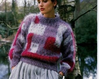 Sweater Knitting Pattern - Original Vintage Pattern 1980s